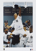 Baseball Collectibles:Others, David Wells Perfect Game Signed Lithograph....