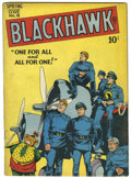 Golden Age (1938-1955):War, Blackhawk #18 (Quality, 1948) Condition: VG-....