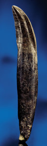 Dinosauria:Teeth, AN EXCELLENT ALLOSAURUS TOOTH WITH ROOT. ...