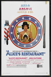 """Alice's Restaurant (United Artists, 1969). One Sheet (27"""" X 41""""). Comedy. Starring Arlo Guthrie, Patricia Quin..."""