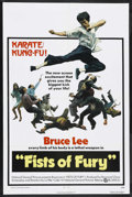 "Movie Posters:Action, Fists of Fury (National General, 1973). One Sheet (27"" X 41"").Action. Starring Bruce Lee, Maria Yi, James Tien, Yin-Chieh H..."