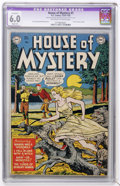 Golden Age (1938-1955):Horror, House of Mystery #1 (DC, 1952) CGC Apparent FN 6.0 Slight (A)Off-white to white pages....
