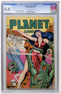 Golden Age (1938-1955):Science Fiction, Planet Comics #51 (Fiction House, 1947) CGC VG 4.0 Cream tooff-white pages....
