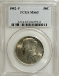 Kennedy Half Dollars: , 1982-P 50C MS65 PCGS. PCGS Population (118/106). NGC Census:(55/37). Mintage: 10,819,000. Numismedia Wsl. Price for NGC/PC...