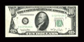 Error Notes:Foldovers, Fr. 2010-G $10 1950 Federal Reserve Note. Very Fine-ExtremelyFine.. ...