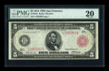 Fr. 843b $5 1914 Red Seal Federal Reserve Note PMG Very Fine 20
