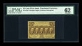 Fractional Currency:First Issue, Fr. 1282 25c First Issue PMG Uncirculated 62....
