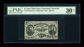 Fractional Currency:Third Issue, Fr. 1272SP 15c Third Issue Glued Pair PMG Very Fine 30 NET....