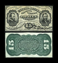 Fractional Currency:Third Issue, Fr. 1272SP 15c Third Issue Narrow Margin Pair New.... (Total: 2 notes)