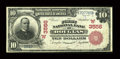 National Bank Notes:Wyoming, Douglas, WY - $10 1902 Red Seal Fr. 615 The First NB Ch. # (W)3556....