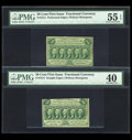Fractional Currency:First Issue, Fr. 1311 50c First Issue PMG About Uncirculated 55 EPQ.. Fr. 131350c First Issue PMG Extremely Fine 40.... (Total: 2 notes)