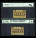 Fractional Currency:First Issue, With and Without Monogram Pair Including:. ... (Total: 2 notes)