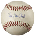 Autographs:Baseballs, Lee MacPhail Single Signed Baseball. ...