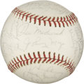 Autographs:Baseballs, Hall Of Fame And Old Timer Multi-Signed Baseball. ...