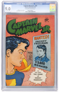 Captain Marvel Jr. #50 (Fawcett, 1947) CGC VF/NM 9.0 Off-white to white pages