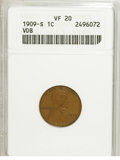 Lincoln Cents: , 1909-S VDB 1C VF20 ANACS. PCGS Population (354/4146). Mintage: 484,000. Numismedia Wsl. Price for NGC/PC...