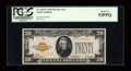 Small Size:Gold Certificates, Fr. 2402* $20 1928 Gold Certificate. PCGS About New 53PPQ.. ...