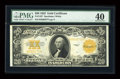 Large Size:Gold Certificates, Fr. 1187 $20 1922 Gold Certificate PMG Extremely Fine 40....