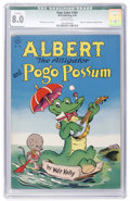 Golden Age (1938-1955):Funny Animal, Four Color #105 Albert the Alligator and Pogo Possum (Dell, 1946)CGC Qualified VF 8.0 Off-white pages....