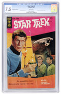 Silver Age (1956-1969):Science Fiction, Star Trek #1 Back Cover Variant (Gold Key, 1967) CGC VF- 7.5 Whitepages....