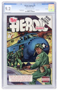 Golden Age (1938-1955):Non-Fiction, Heroic Comics #76 File Copy (Eastern Color, 1952) CGC NM- 9.2 Creamto off-white pages....