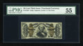Fractional Currency:Third Issue, Fr. 1338 50c Third Issue Spinner PMG About Uncirculated 55....