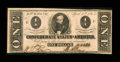 Confederate Notes:1863 Issues, T62 $1 1863 PF-6, Cr. UNL.. ...
