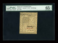 Colonial Notes:Delaware, Delaware January 1, 1776 20s PMG Gem Uncirculated 65 EPQ....