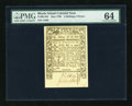 Colonial Notes:Rhode Island, Rhode Island May 1786 2s6d PMG Choice Uncirculated 64....