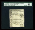 Colonial Notes:South Carolina, South Carolina April 10, 1778 Vertical Pair PMG Extremely Fine 40EPQ....