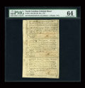 Colonial Notes:North Carolina, North Carolina December, 1771 Sheet of Three PMG ChoiceUncirculated 64....