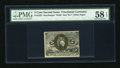 Fractional Currency:Second Issue, Fr. 1235 5c Second Issue PMG Choice About Unc 58 EPQ....
