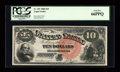 Large Size:Legal Tender Notes, Fr. 107 $10 1880 Legal Tender PCGS Gem New 66PPQ....