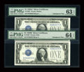 Small Size:Silver Certificates, Fr. 1601/Fr. 1602 $1 1928A/1928B Silver Certificates. Changeover Pair.. PMG Choice Uncirculated 63 EPQ and PMG Choice... (Total: 2 notes)