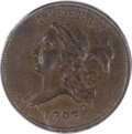 Half Cents, 1793 1/2 C MS61 Brown PCGS. CAC....
