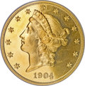 Proof Liberty Double Eagles, 1904 $20 PR65 Cameo PCGS. CAC....