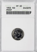 Proof Roosevelt Dimes: , 1953 10C PR65 ANACS. NGC Census: (62/571). PCGS Population(220/778). Mintage: 128,800. Numismedia Wsl. Price for NGC/PCGS ...
