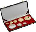 Albania, Albania: Republic gold and Proof Set 1968,... (Total: 8 coins)