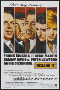 "Ocean's 11 (Warner Brothers, 1960). One Sheet (27"" X 41""). Crime"