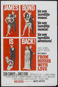 """Movie Posters:James Bond, From Russia with Love (United Artists, 1964). One Sheet (27"""" X 41"""") Style B. James Bond...."""