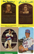 Autographs:Sports Cards, Baseball Hall of Famers Signed Postcards and Trading Cards Group Lot of 4....