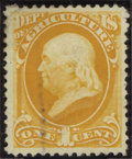 Stamps, #O94, 1879, 1c Yellow, FR-G 20 PSE. (No Gum As Issued).... (Total: 1 Slab)