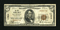 National Bank Notes:Pennsylvania, Loysville, PA - $5 1929 Ty. 1 The First NB Ch. # 11524. ...