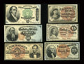 Fractional Currency:Group Lots, High Grade Fractional Mix of Notes... (Total: 6 notes)