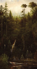 Paintings, NORTON BUSH (American, 1834-1894). California Landscape, 1887. Oil on canvas. 36 x 20 inches (91.4 x 50.8 cm). Signed an...