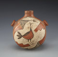 American Indian Art:Pottery, A ZIA POLYCHROME CANTEEN. c. 1940...