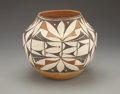 American Indian Art:Pottery, AN ACOMA POLYCHROME JAR. c. 1925...
