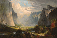 School of THOMAS HILL (British/American, 1829-1908) Valley Landscape Oil on canvas 23-1/4 x 35-1/