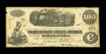 Confederate Notes:1862 Issues, T40 $100 1862 PF-1, Cr. 298/308.. ...