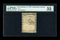 Colonial Notes:Continental Congress Issues, Continental Currency February 17, 1776 $1/2 PMG About Uncirculated55....